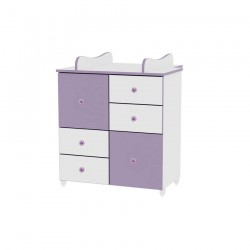 Шкаф бяло и виолетово