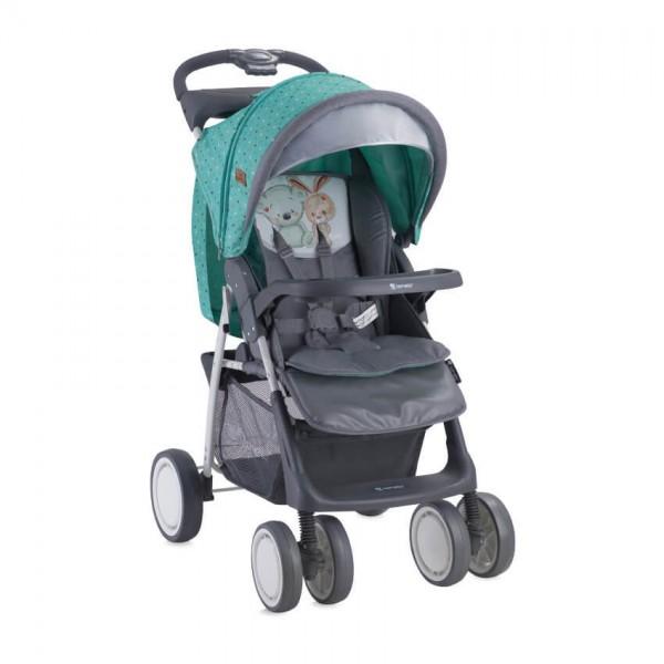 Детска количка Foxy Green&Grey Friends с покривало