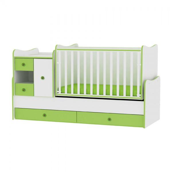Легло MiniMAX бяло и зелено