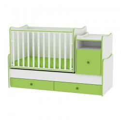 Легло Trend Plus бяло и зелено