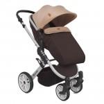 Бебешка количка Luna 2в1 Brown&Beige