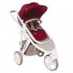 Бебешка количка Calibra 3 Beige&Red