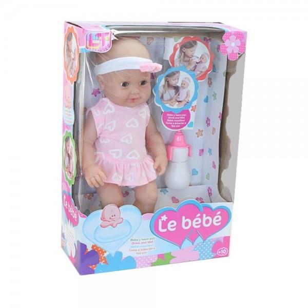 LT Пишкаща Кукла Le Bebe 43см